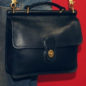 COACH WILLIS Bag » Vintage Black Leather, Brass